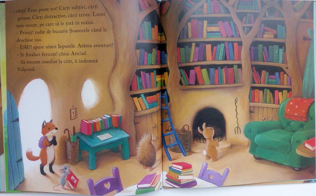 Biblioteca Ursului de Poppy Bishop cu ilustrații de Alison Edgson